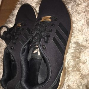 adidas Shoes - Adidas BLACK AND GOLD ZX FLUX